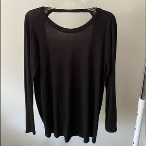 boutique open back long sleeve top